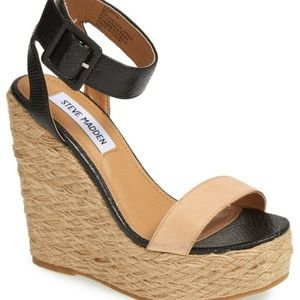Steve Madden Hamptin Wedge Colorblock Sandals